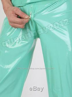 100% Latex Rubber Gummi 0.45mm Doctor Uniform Mask Pant T-shirt Green Party New