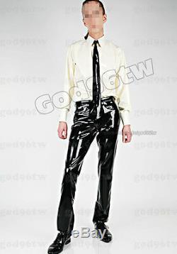 100% Latex Rubber Gummi Shirt Top Pants Jeans Trousers Tie Catsuit Suit Uniform