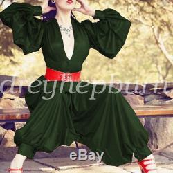 100%Latex Rubber Women Shirt And Pants Set Fashion Party Uniform Gummi XXS-XXL
