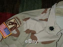 11th ACR badged DCU shirt pants set Desert OIF OEF CAB LTC 18TH ABC named