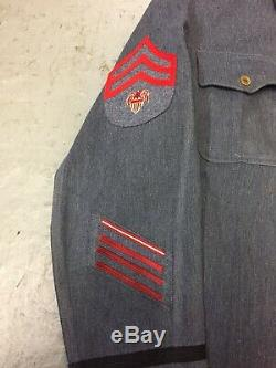 1920s Culver Cadet Wool Chin Strap Shirt Pants Patches ROTC US Army Uniform 30s