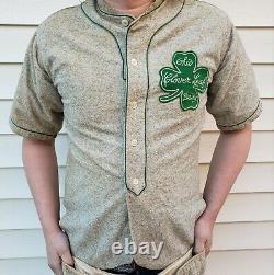 1940s Ohio Clover Leaf Dairy Baseball Uniform Button Shirt and Pants