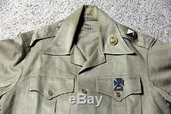 1950's US ARMY Military Uniform Shirt Pants Hat Beret Transportation Corps 129th