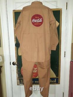1950s Coca Cola Drivers Uniform Shirt And Pants Soda Pop Advertising Serviceman