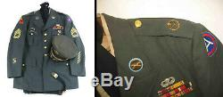 1950s KOREAN WAR/JAP OCCU ARMY OFFICER'S DRESS UNIFORM withHAT-Pants-SHIRT-Belt