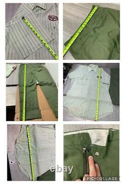 1950s Texaco Gas Service Station Attendant Uniform Set Shirt LG Pants 36 Unitog