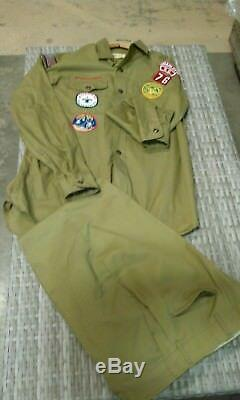 1960's / 1970's Vintage Boy Scout Uniform Shirt With Patches And Pants