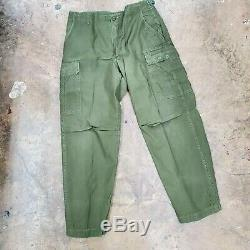 1968 69 lot jungle shirt & pants MEDIUM Vietnam war uniform jacket named US Army