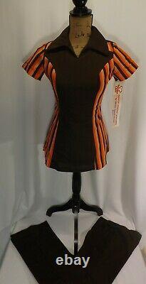 1970s Burger Chef Restaurant Womens Uniform Shirt & Matching Pants Vtg. NWT #2
