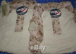 2 Sets USMC 4 Desert MARPAT FROG Combat Ensemble Trousers Coats Pants Shirts NWT