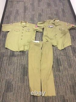 2 Vintage Boy Scouts Shirt & Pants SHIPS FREE