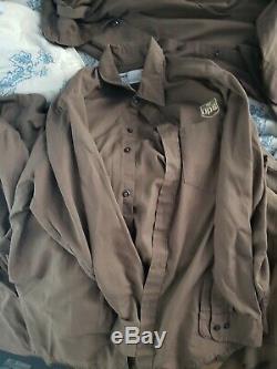 20 Twinhill UPS United Parcel Service Shirts, 11 Shorts, 9 Pants, 2 Hats Uniform