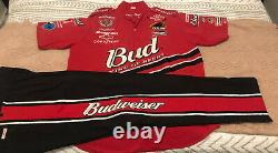 2001-02 Dale Earnhardt Jr Budweiser Crew Uniform Winston Cup Shirt & Pants- DEI