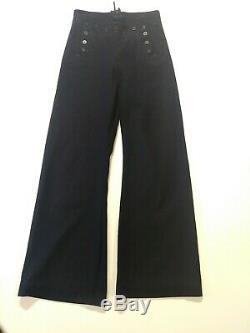 3 Piece WWII U. S. Navy Wool Uniform Hat / Long Sleeve Shirt / Trouser Pants Mens