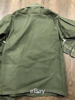 4pc Vintage Military Uniform US Navy SEABEES Vietnam Shirt Pants 32x33 15.5 S M