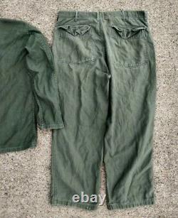 50s OG107 US ARMY Sateen Uniform Shirt Medium with 38 waist pants Berlin Brigade