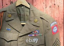 82ND A/B COMBATMEDOIC GLIDER BN UNIFORM-COMPLETE WithALL INSIGNIA, SHIRT, PANTS