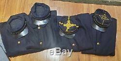 84 pieces Civil War Confederate Union reprod. Jackets hats belts shirts pants