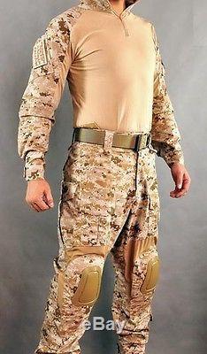 ALLWIN Navy Seal DIGI2 AOR1 DEVGRU Desert Combat Shirt Pants Elbow Knee pads G2