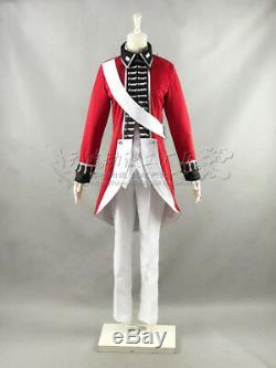 APH/Axis Power Hetalia British Revolutionary War Red Uniform Costume Cosplay