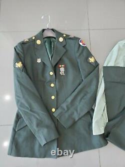 ARMY MEDIC Womens Dress Unform Jacket, Pants, Shirt Belt Medals & Pins
