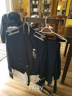 Air Force Officer Mess Dress formal uniform jacket, pants, shirt active duty