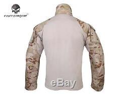 Airsoft Army Tactical Uniform Emerson Combat G3 Uniform Shirt Pants MCAD