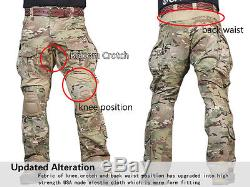 Airsoft Military Tactical Uniform Emerson Combat G3 Uniform Shirt Pants Multicam