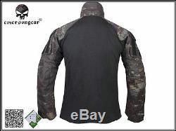 Airsoft Tactical bdu Uniform Emerson Combat Gen3 Suit Shirt Pants Multicam Black