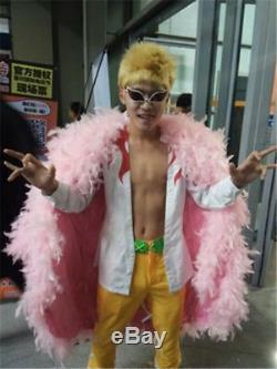 Anime One Piece Joker Donquixote Doflamingo Costume Cosplay Colak Outfit Adult