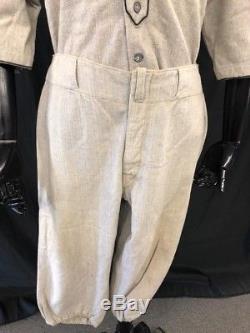 Antique 1918-27 Complete Baseball Uniform Shirt Pants Stirrups Cap Cleats VDM