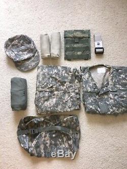 Army ACU UCP Uniform Set Pants Jacket Combat Shirt Massif Small Hat 7.25 MOLLE