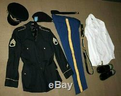 Army ASU Dress Uniform 44L jacket 36 pants sz12 Shoes 71/2 Cap 17/35 shirt Belt