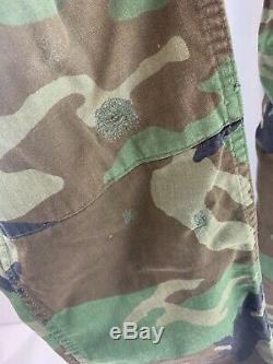 Army Camouflage Combat Outfit Small, 8415-01-084-1643. Cargo pants 2 shirts