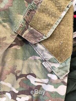 Army Crye Multi cam Camo Shirt Pants Size Medium Regular Used FRAC