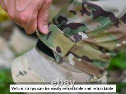 Army Men Suit Military Tactical Camo Uniform Combat T-shirt Pants BDU SWAT Suit