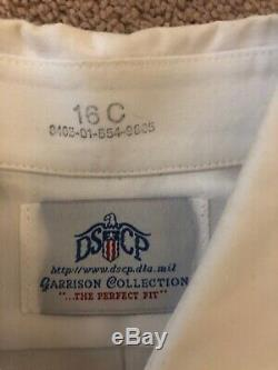 Army Service (ASU) Uniform/ Jacket 40S/ Pants 33R/ White Shirt, Long Sleeve