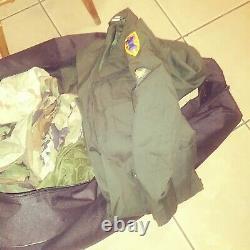 Auth US Army 38 Piece Lot Jackets Shirts Pants Rain Gear Hats Canteens Belt