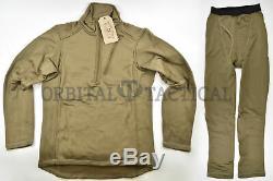 Beyond PCU level 2 Fleece Grid Shirt Pant Set Coyote Brown SR Small Regular