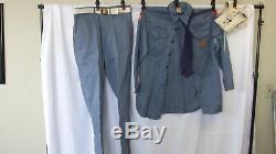 Boy Scout Air Explorer Uniform Shirt Tie Pants Size Medium 8772HH