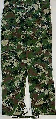 Colombia Army Woodland Digital Pant and Shirt Size 36R New Without Tags