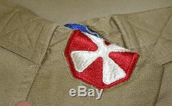 Complete Korean War 9th Corp Corporal's Uniform Jacket, Shirt, Pants, Tie, Cap