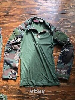 Crye Drifire M81 Woodland Combat Shirt And Pants M/L With Pads SOF MARSOC