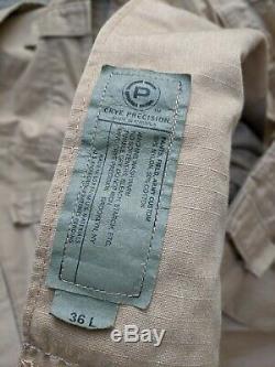 Crye Precision AC Sand combat/field pant 36L combat shirt large long