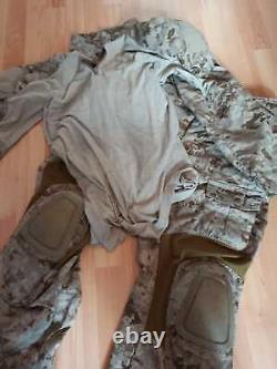 Crye Precision AOR1 combat pants with original knee pads & shirt Navy Custom