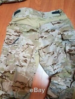 Crye Precision MultiCam Arid G3 Pants (34L) withPads and Shirt (MD R)