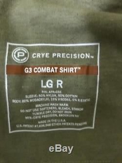 Crye Precision Multicam G3 Pants 34L AND G3 Multicam shirt LG-Reg with pads
