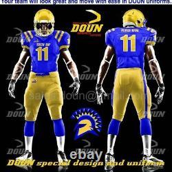 Custom made American Football Uniforms 10 set Jerseys and pants