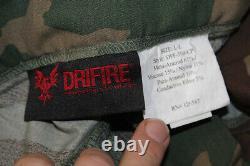 DRIFIRE (2) Shirts (1) Pants NEW NO TAGS Woodland Cammo LOOK