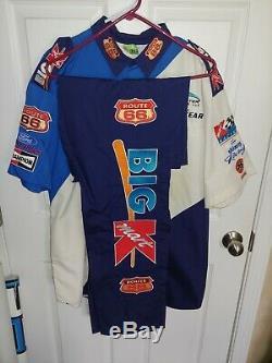 Darrell Waltrip NASCAR race used 2000 Kmart pit crew shirt pants uniform Route66